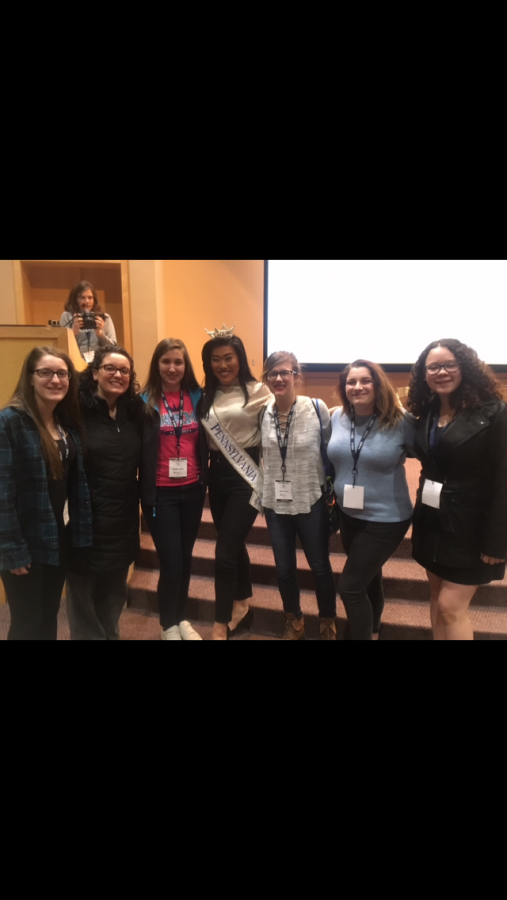 The Flash staff meets with Miss Pennsylvania at the PSPA Championship