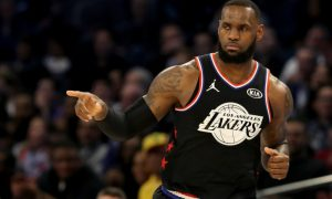 LeBron James at the 2019 All-Star game.