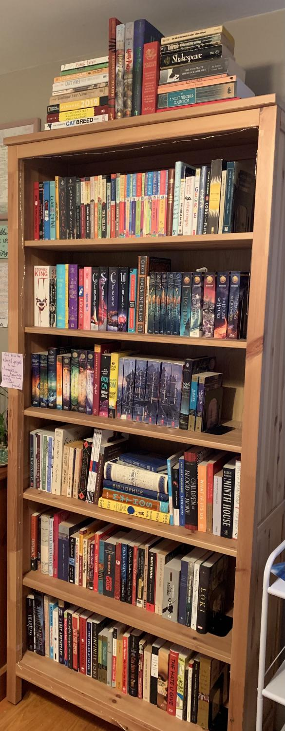 My bookshelf, first sorted by whether I've read them, then alphabetically