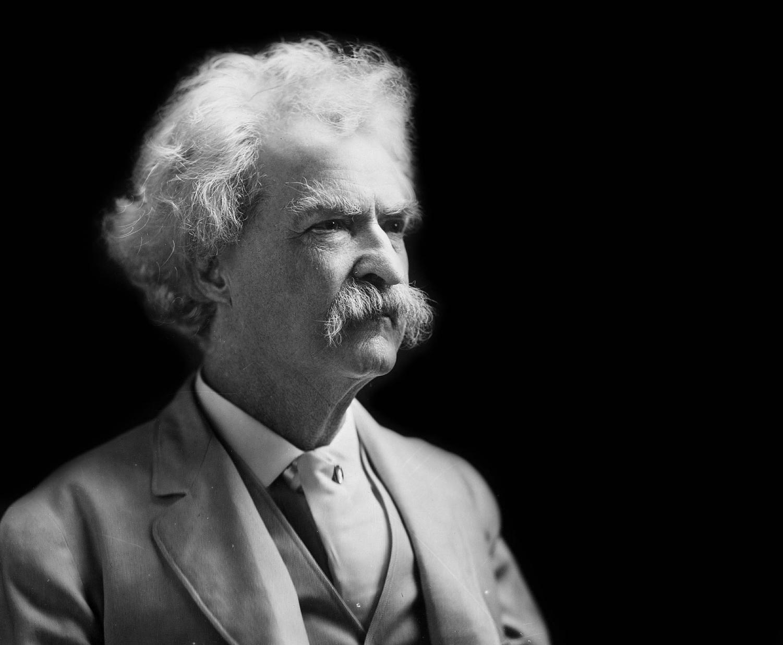 Mark Twain, author of The Adventures of Huckleberry Finn