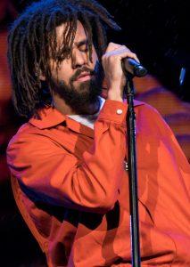 Rapper J. Cole, now a member of the Rwanda Patriots Basketball Club.