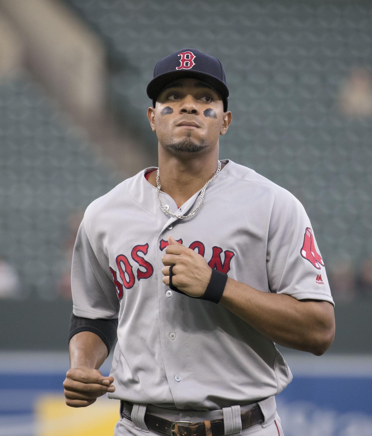 Bogaerts with the Boston Red Sox.